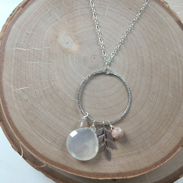 Silver Long Pendant Necklace