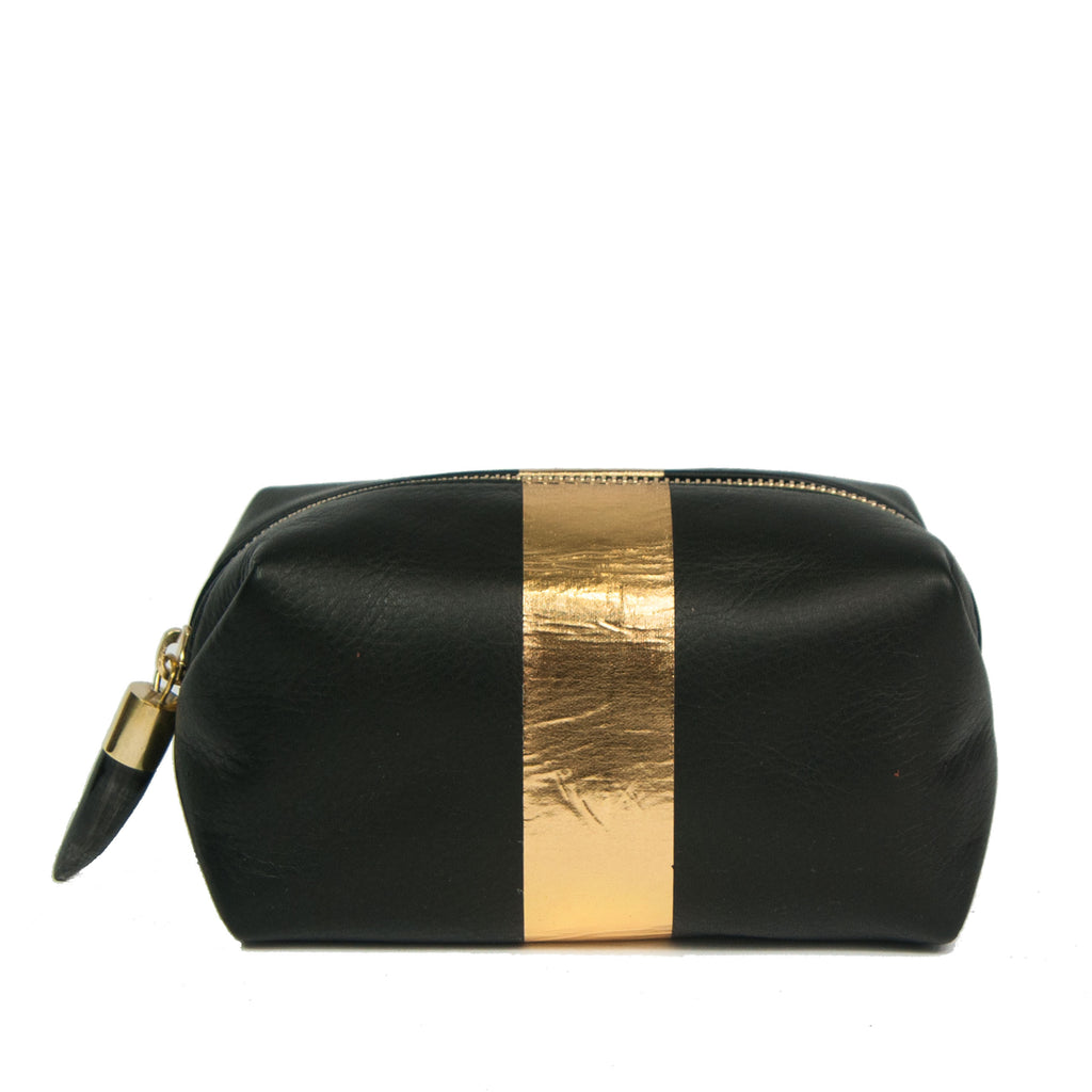 Black and Gold Cosmetic Case