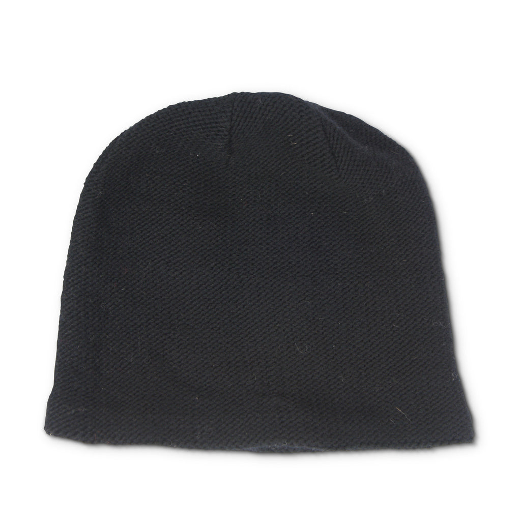 Pull-on Wool Skully Hat - Black