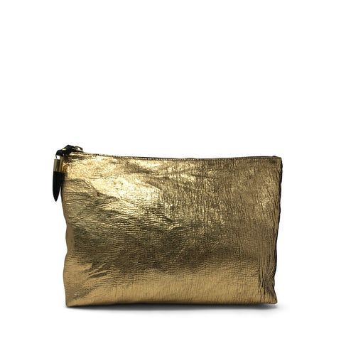 Metallic Rain Gold Small Pouch