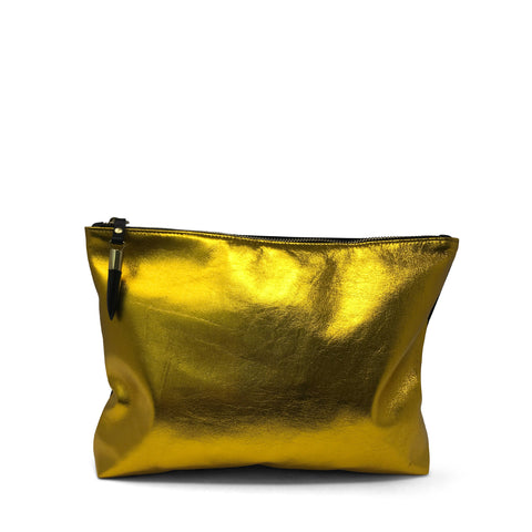 Metallic Cobra Bronze Medium Pouch