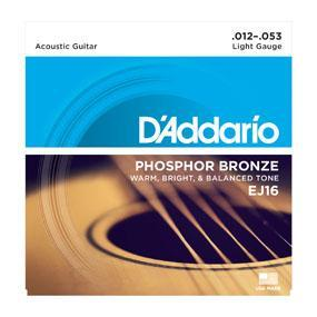D'Addario Phosphor Bronze 12-53 Light Gauge Acoustic Guitar String Set