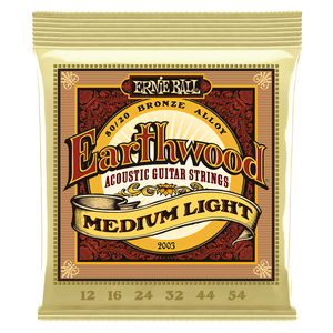 Ernie Ball Earthwood Medium Light 80/20 Bronze Acoustic Guitar Strings 12-54