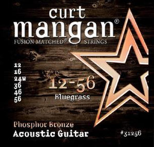 Curt Mangan Fusion Matched 12-56 Bluegrass Phosphor Bronze Acoustic Guitar String Set