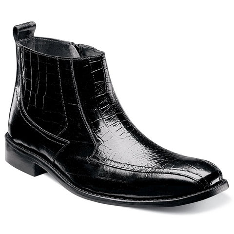 Stacy Adams Giorno Chelsea Boot - Black Shoes - Dapperfam.com