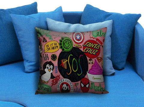 5 Seconds of Summer Collage Pillow case