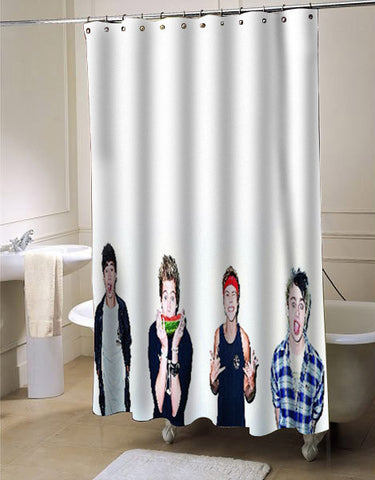 5 Seconds of Summer custom shower curtain customized design for home decor