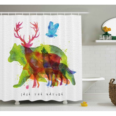 Animal Save The Nature Shower Curtain (LIM)