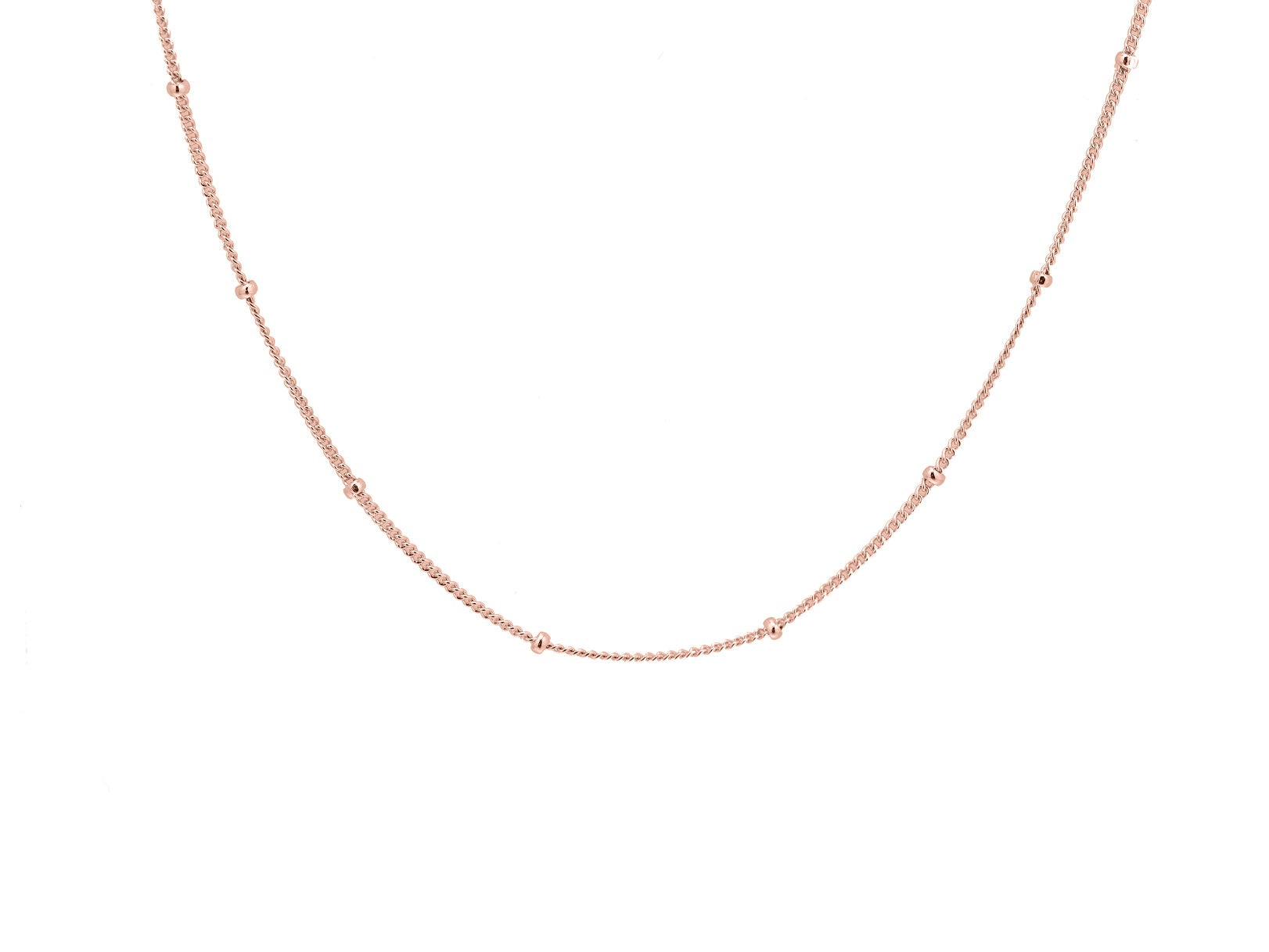 Bobble chain, sterling silver, rose gold plated