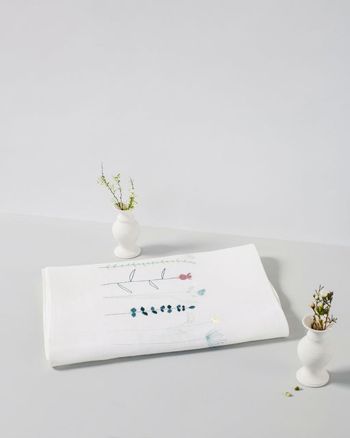 Personalised 'Irish Wildflower' Irish Linen Table Runner