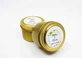 Wedding/Party Favors -  50 Two Ounces Travel Gold Tin Soy Candles Pattern B