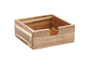 Acacia Wood Napkin Holder Party Buffet Serving Piece