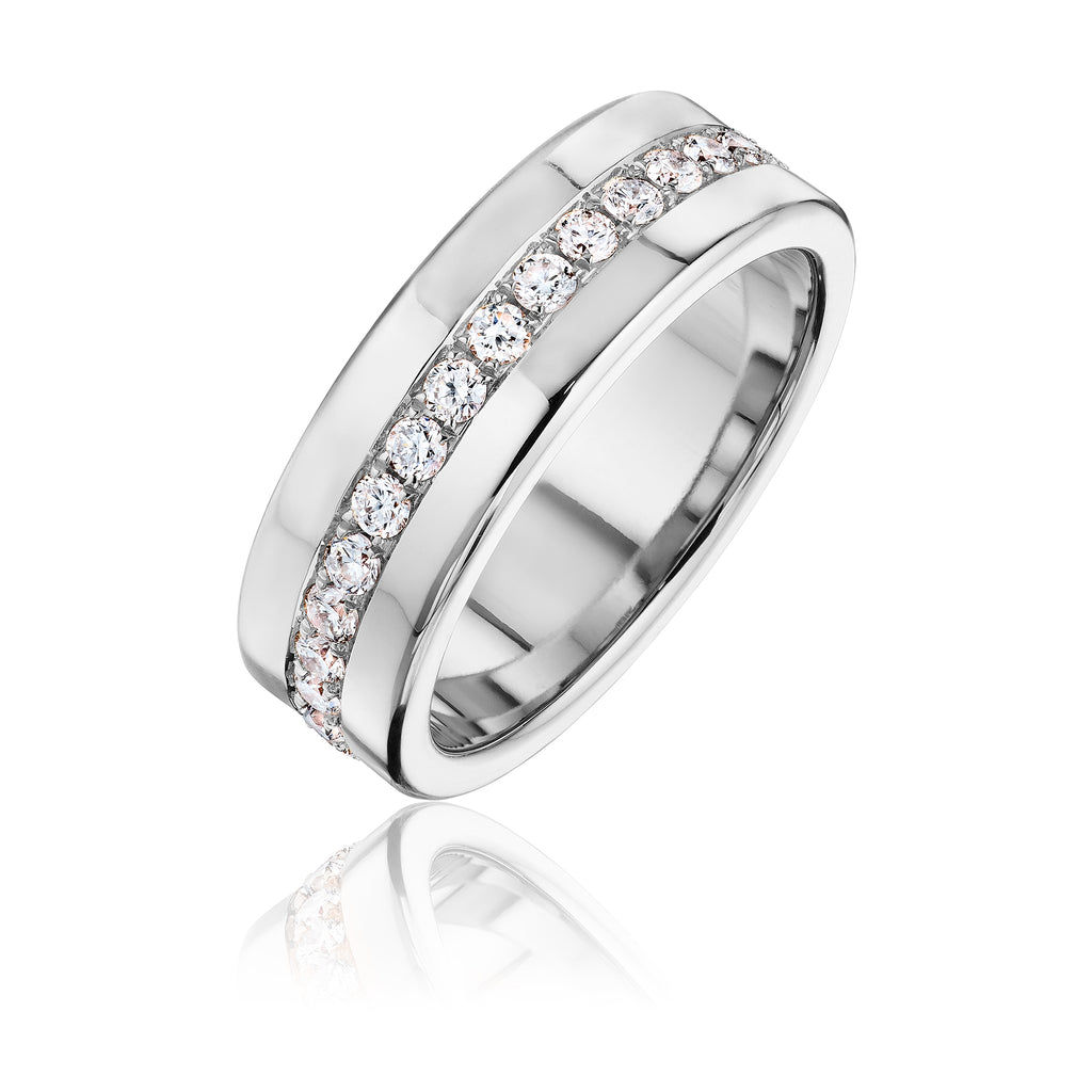 Architect bold pave band