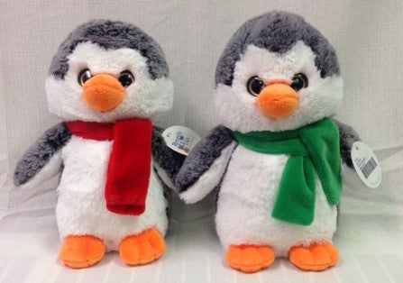 "#12103 - 8"" FROSTY PENGUINS W/ SCARF  -  24/CASE"