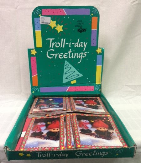 #13463 - TROLL-I-DAY XMAS CARDS 4AT  -  216/CASE
