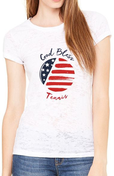 God Bless Tennis™ - Women's Burnout Tee