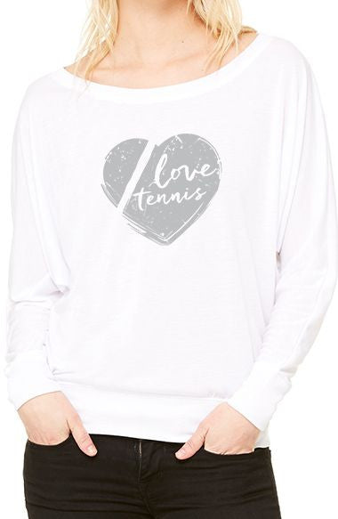 Love Tennis™ - Women's Flowy Long Sleeve Tee
