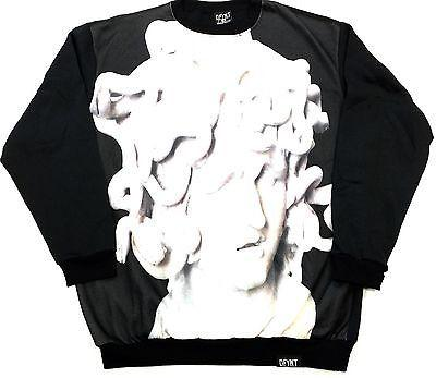 "DFYNT Rose DFYNT ""MEDUSA"" l Fashion Urban Black Crewneck FREE SHIPPING  F2"