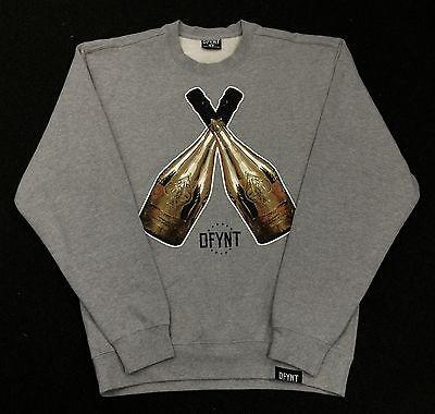 DFYNT Rose Thorn  DFYNT CHAMPIAN   Fashion Urban GRAY SWEATER  F4 FREE SHIPPING