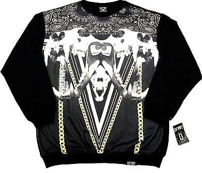 DFYNT Rose Thorn Stars DFYNT SKULLS CHIAN  Fashion Urban BLACK SWEATER SIZE L