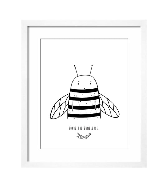 Bowie the Bumblebee Art Print by The Wild - thewildkidsapparel.com