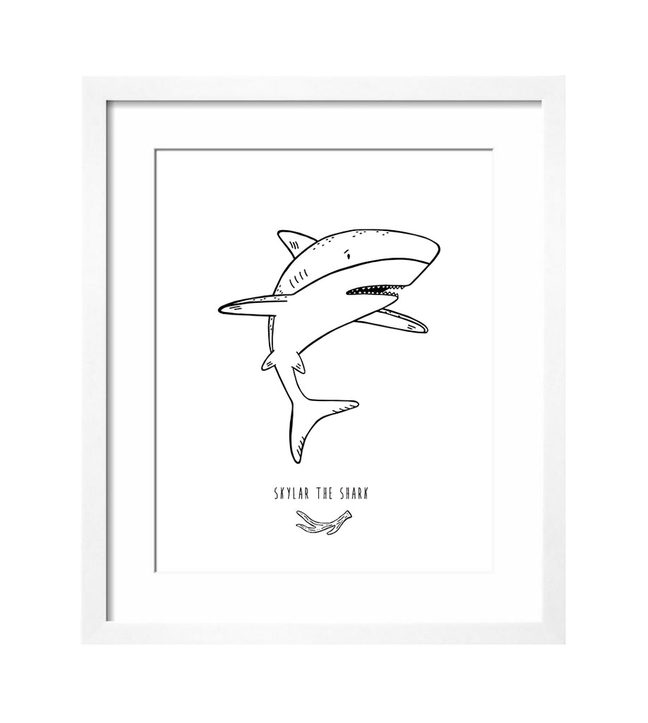 Skylar the Shark Art Print by The Wild - thewildkidsapparel.com