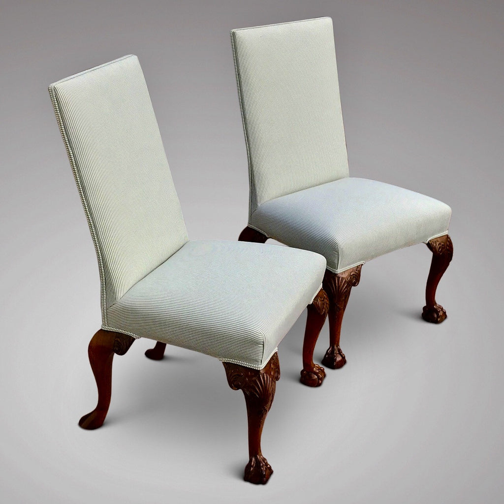 Pair of George II Style Side Chairs - Front & Side View -2