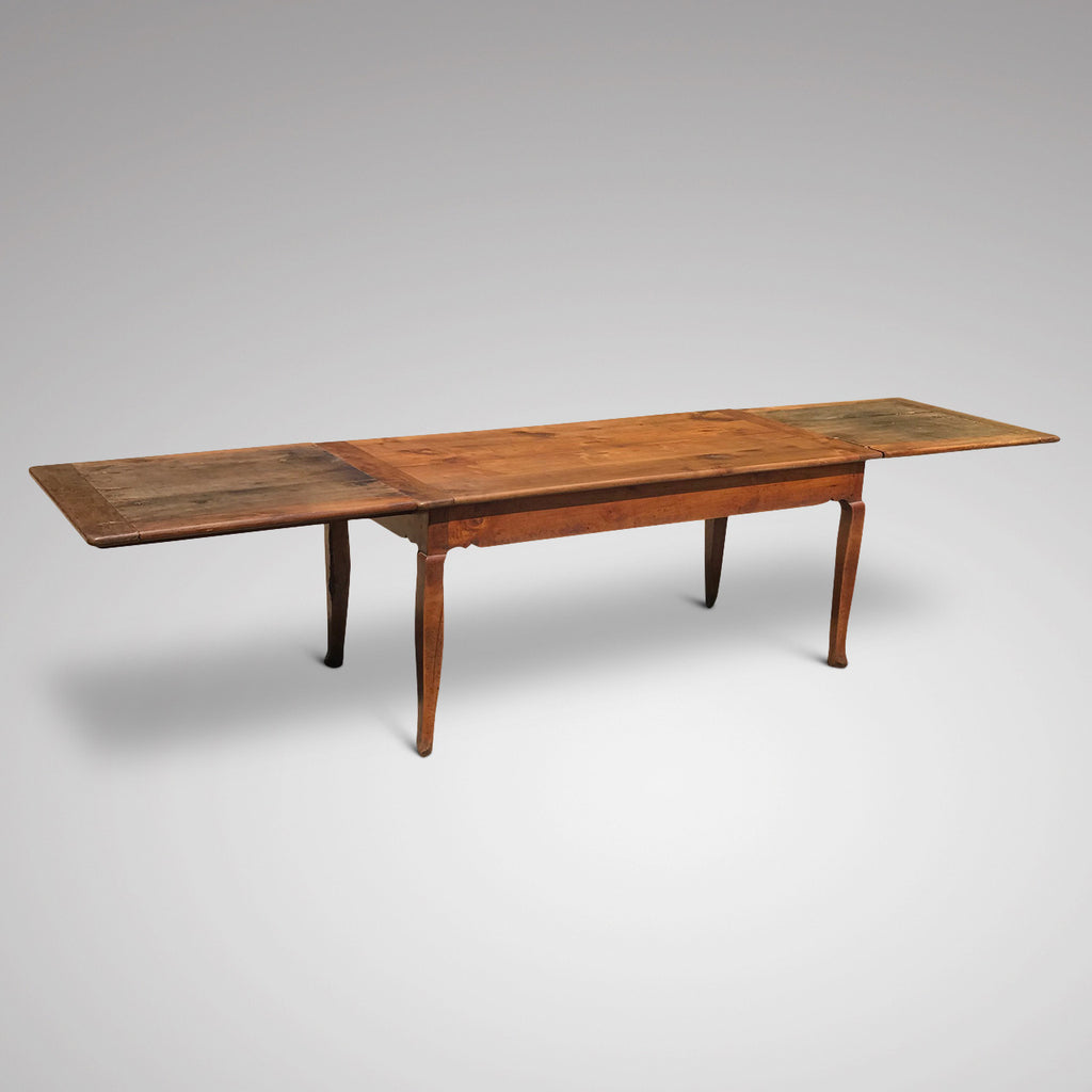 19th Century Fruitwood Extending Dining Table - Main Extended View - 3