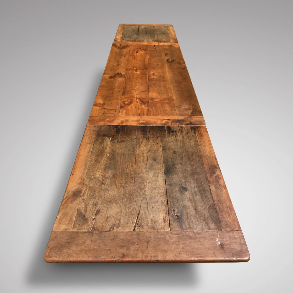19th Century Fruitwood Extending Dining Table - Top Extended View - 4