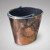 Georgian Oval Copper Peat Bucket - Front View - 3