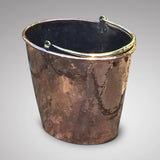 Georgian Oval Copper Peat Bucket - Front and Side View  - 1