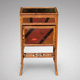 Victorian Lacquered Bamboo Sewing Table - Hobson May Collection - 2