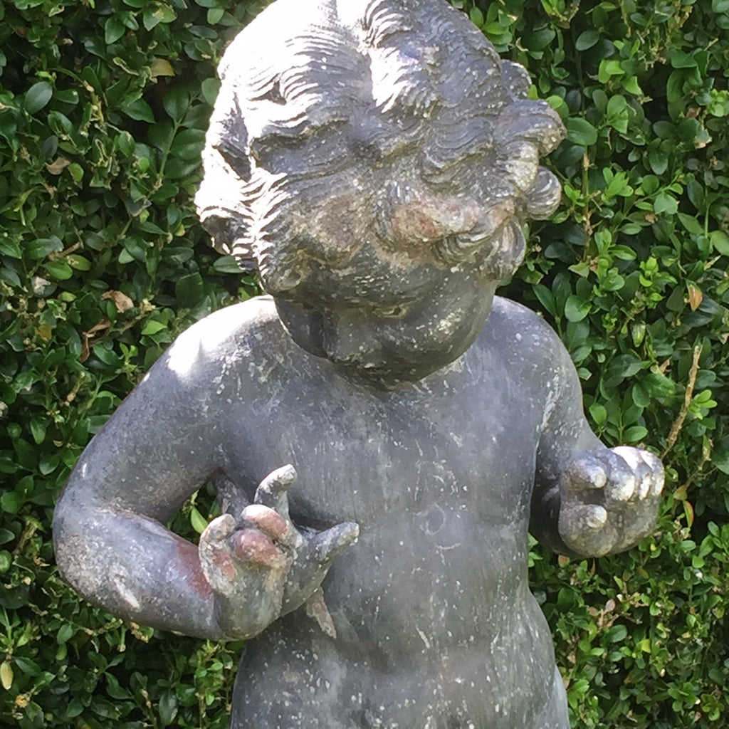 Antique Lead Garden Statue of a Nymph - Detail View of Figure - 4