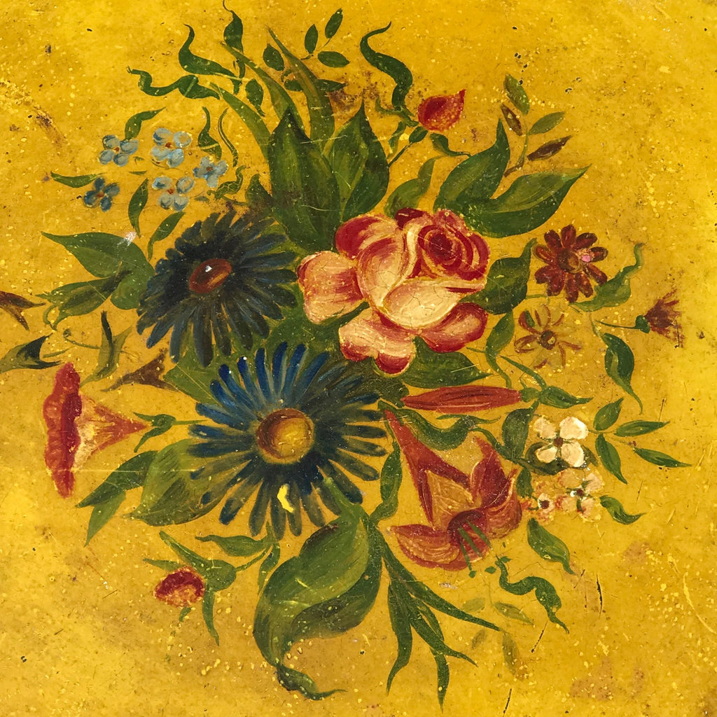 19th Century Painted Toleware Tray - Detail View - 2