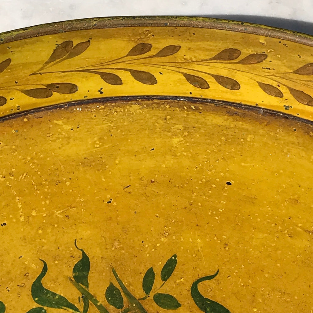 19th Century Painted Toleware Tray - Detail View - 3