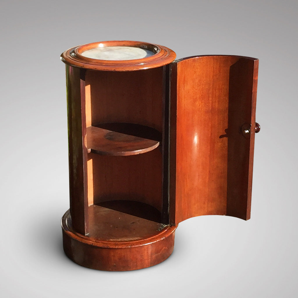 Victorian Mahogany Cylindrical Pot Cupboard- Inside View of Cupboard-3
