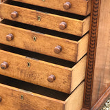 Small Arts & Crafts Oak Chest of drawers - Drawer Detailing - 4