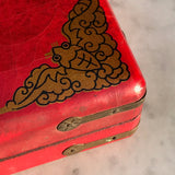 Chinese Abacus in Red Lacquered & Painted Box - Detail View - 11