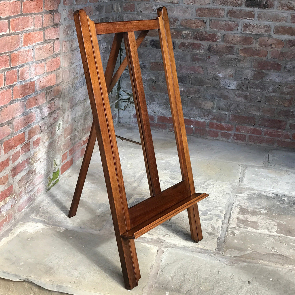 19th Century Mahogany Artists Easel by Vokins - Part Folded View - 9
