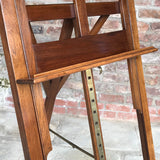 19th Century Mahogany Artists Easel by Vokins - Adjustment Detail View -2