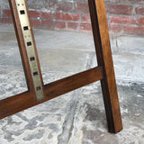 19th Century Mahogany Artists Easel by Vokins - Base Detail View - 4