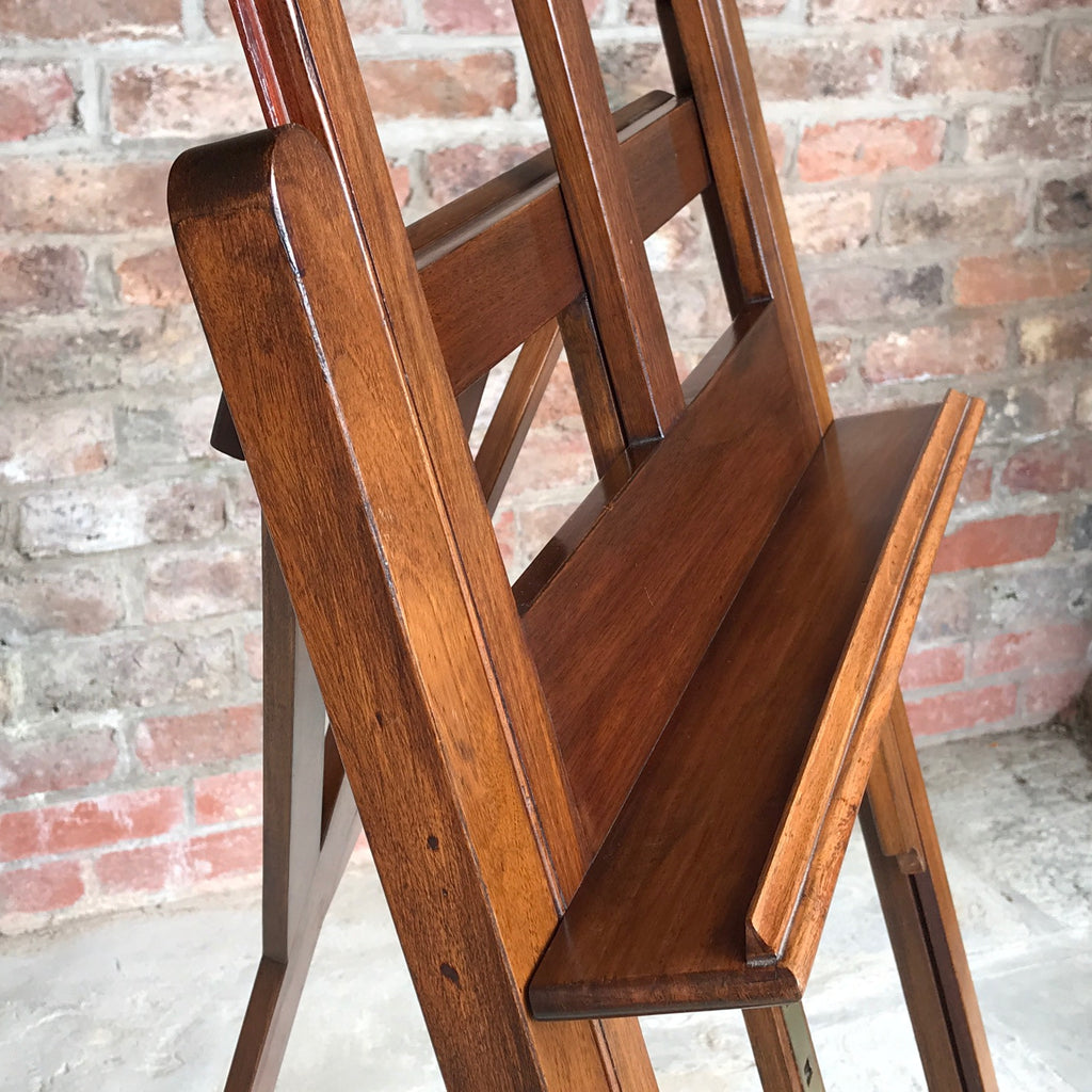 19th Century Mahogany Artists Easel by Vokins - Shelf Side Detail View - 7