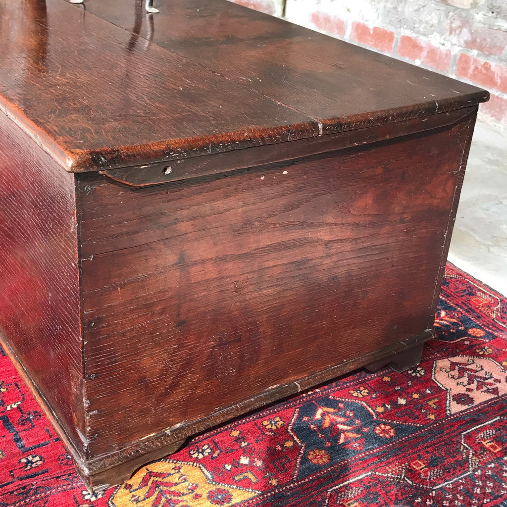 Georgian Oak Blanket Box - Side Detail View - 3