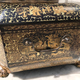 19th Century Chinoiserie Lacquered Sewing Chest - Side Handle Detail - 7