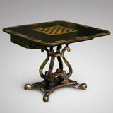 Regency Japanned & Painted Games Table