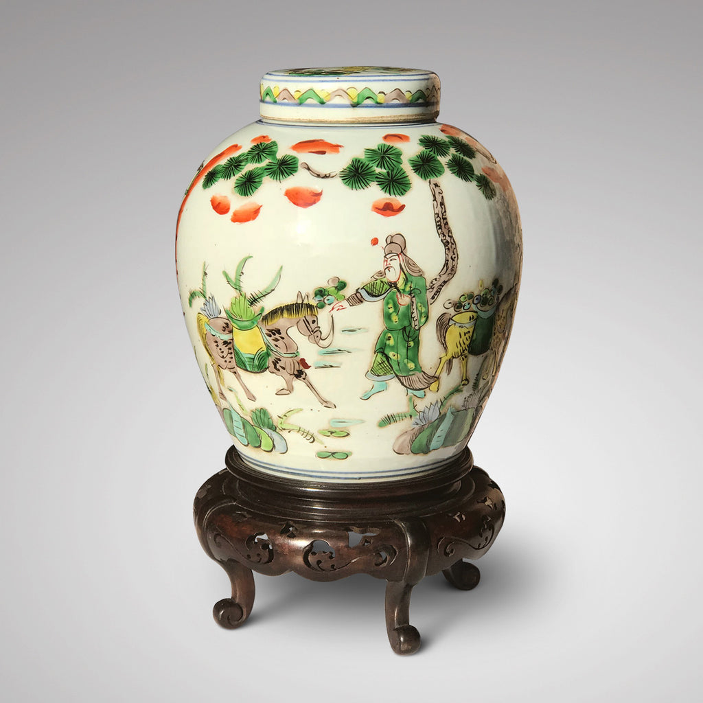 19th Century Chinese Famille Verte Ginger Jar - Main View - 1