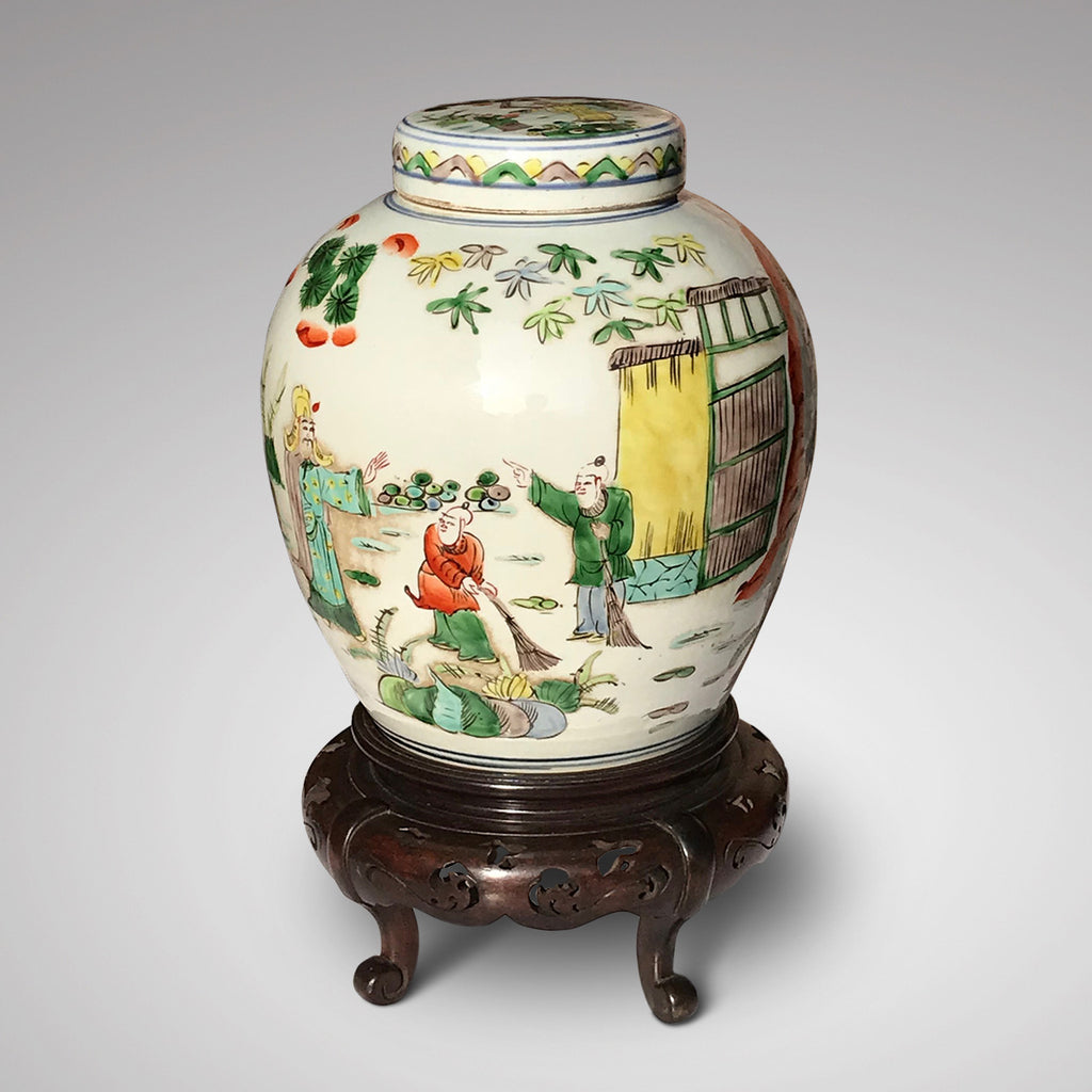 19th Century Chinese Famille Verte Ginger Jar - Main View -2