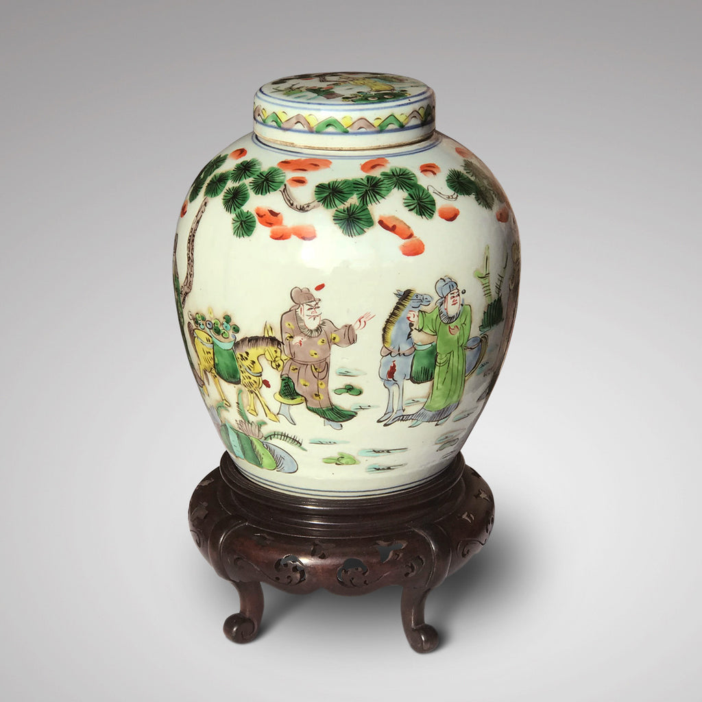19th Century Chinese Famille Verte Ginger Jar - Main View - 3