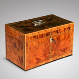 George III Tortoiseshell Tea Caddy - Front and Side View - 1