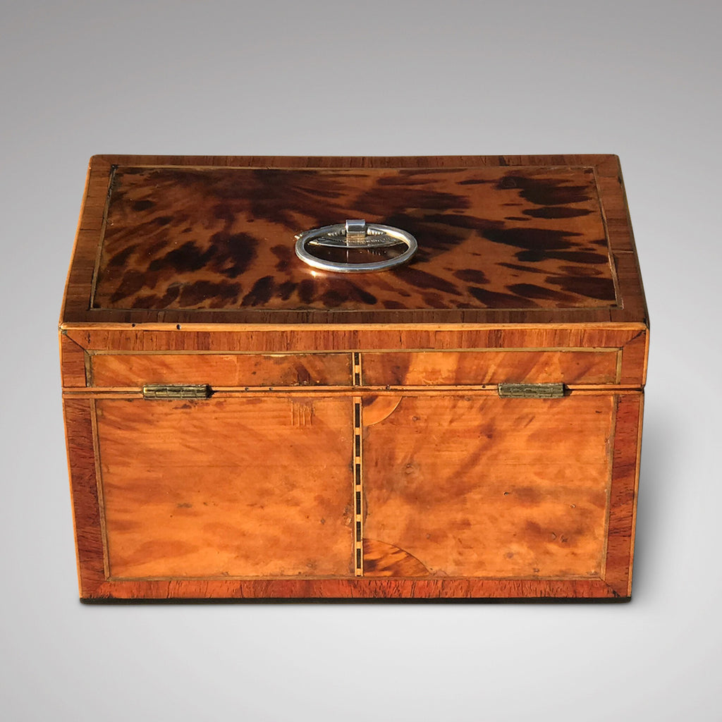 George III Tortoiseshell Tea Caddy - Back and Top View - 2